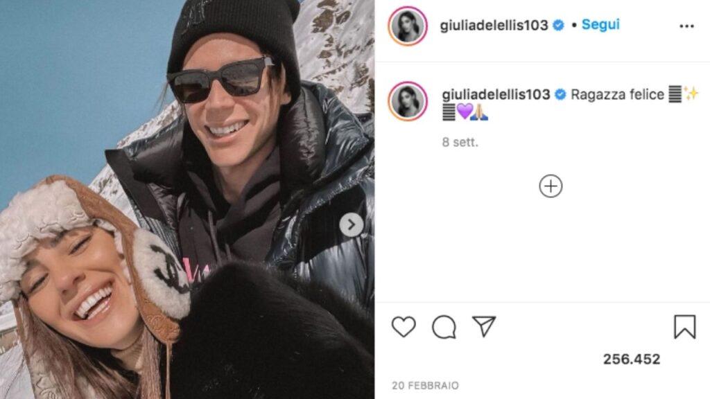 giulia de lellis e carlo gussalli beretta sulla neve nel 2021