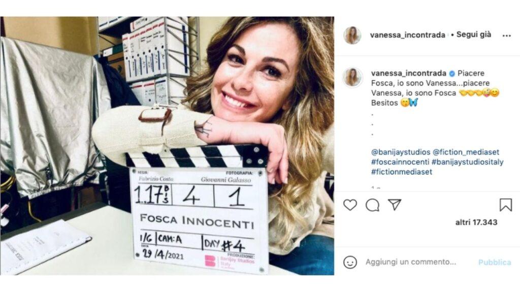 Vanessa Incontrada sul set di Fosca Innocenti