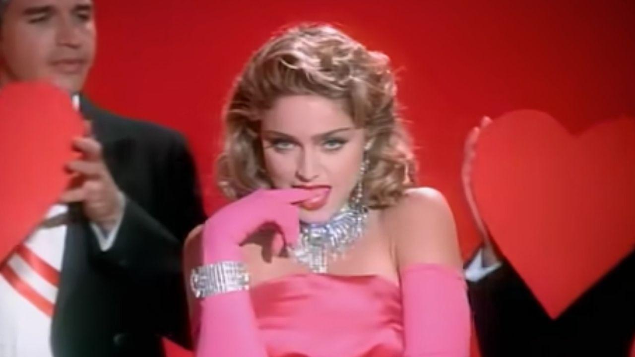 Marilyn Monroe interpretata da Madonna in Material Girl