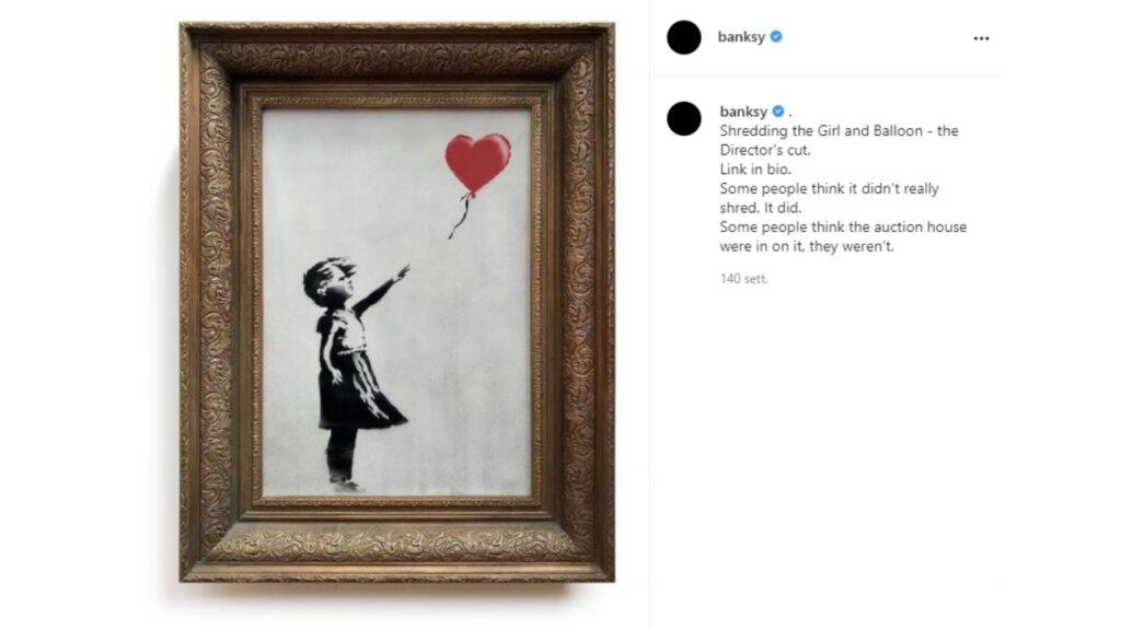 Girl with Balloon di Banksy