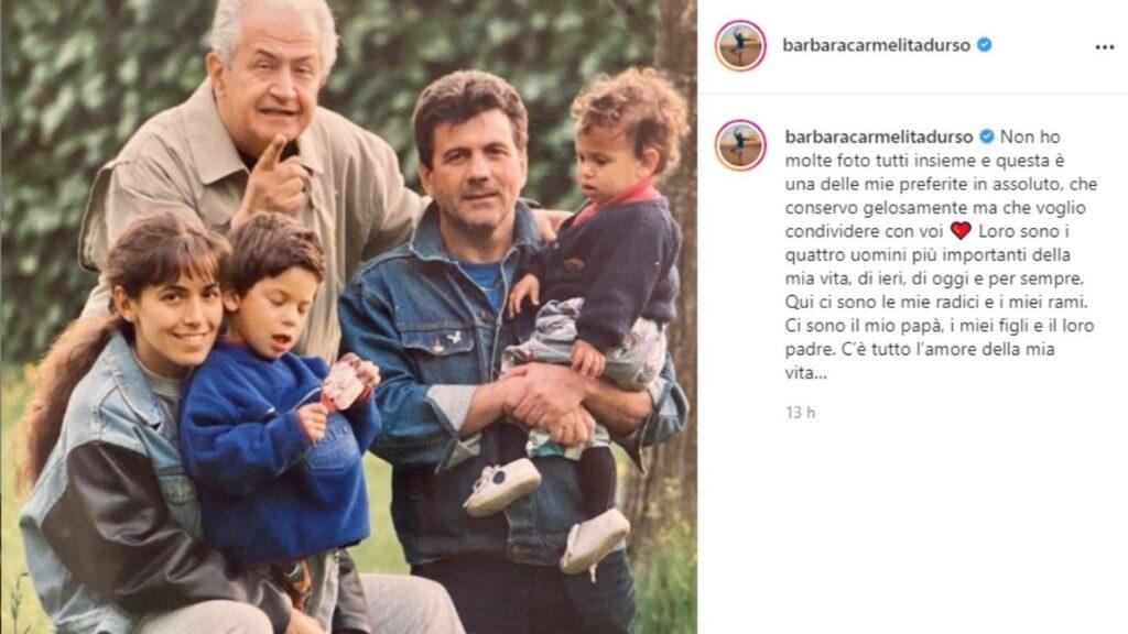 barbara d'urso, il padre rodolfo, i figli emanuele e giammauro e l'ex compagno mauro berardi