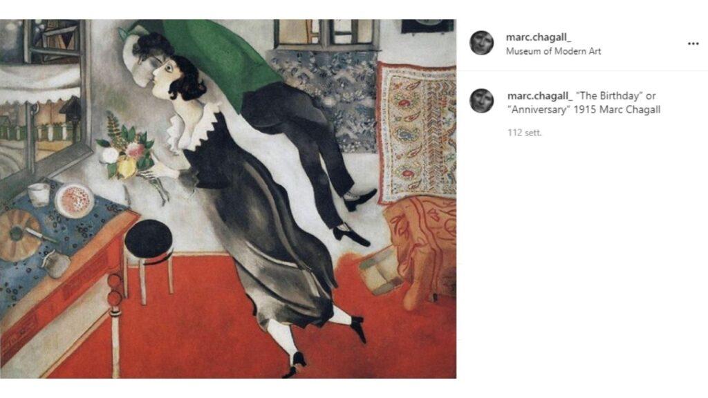 l'anniversario di Marc Chagall