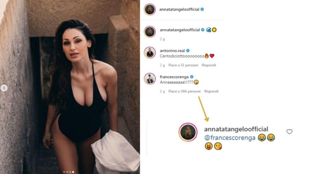 anna tatangelo e francesco renga su instagram