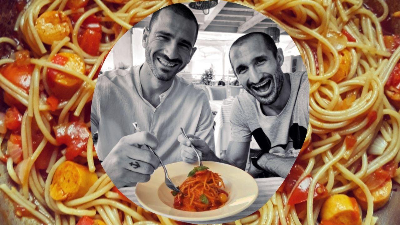 chiellini e bonucci polemica pastasciutta italia inghilterra