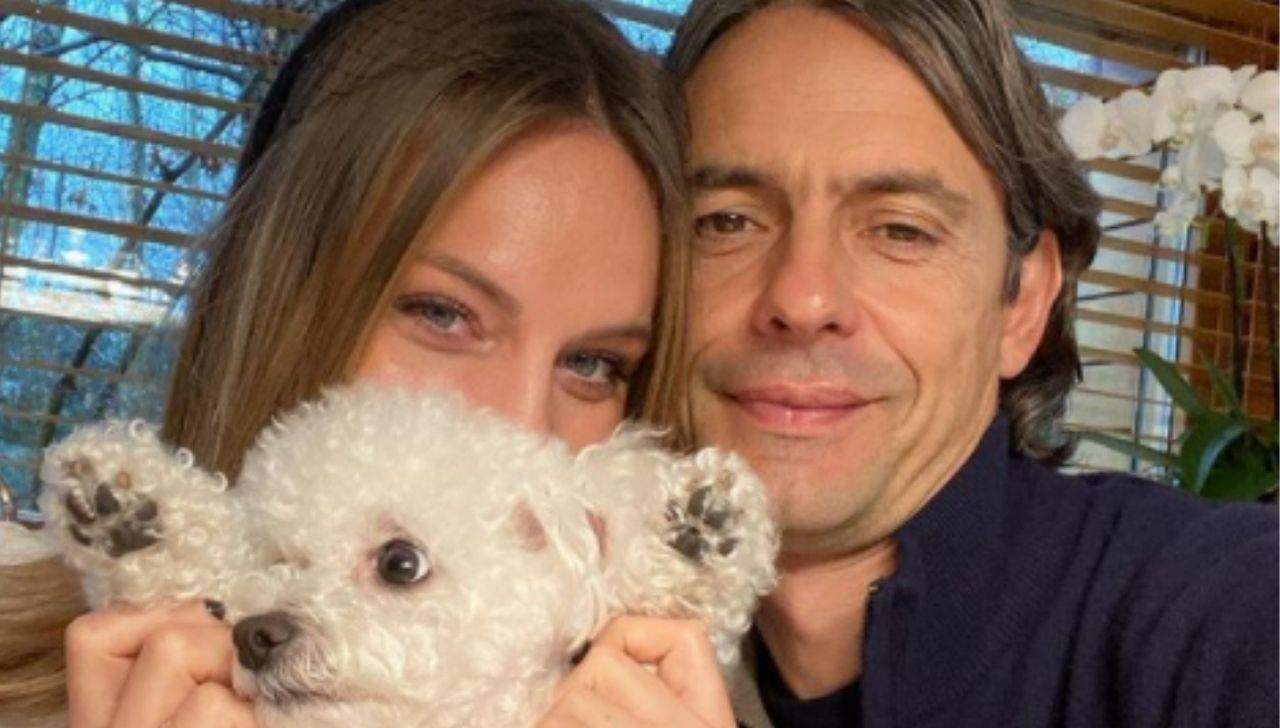 Filippo Inzaghi e la compagna Angela Robusti genitori