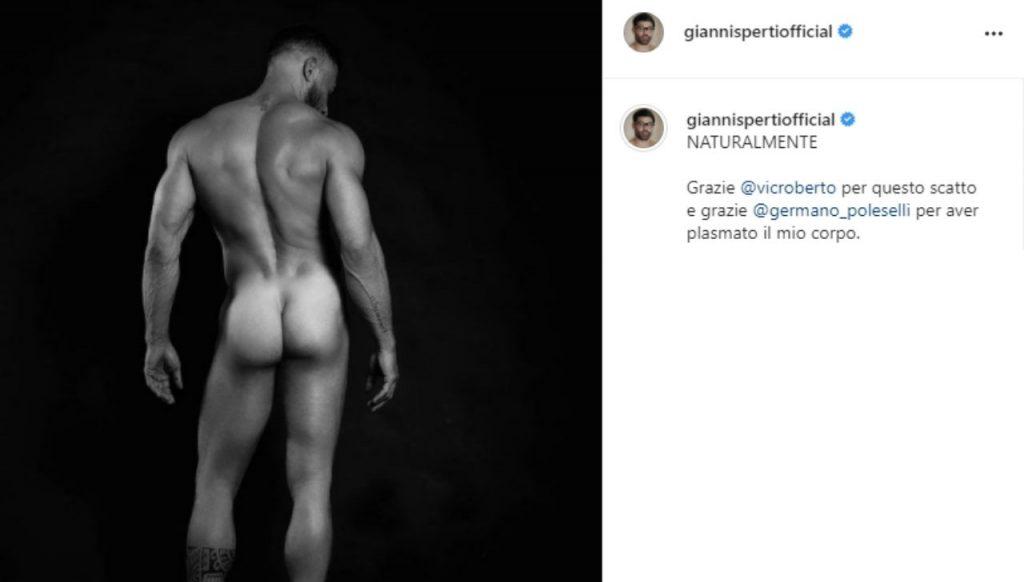 Gianni Sperti instagram foto senza veli