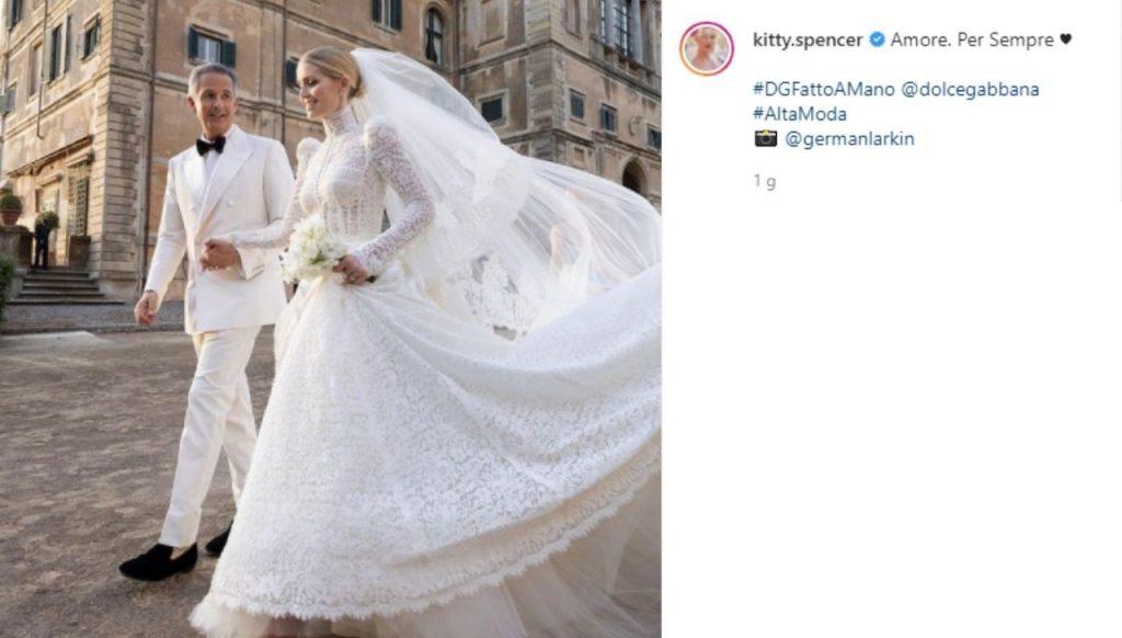 Kitty Spencer e Michael Lewis matrimonio a Frascati nipote Lady Diana