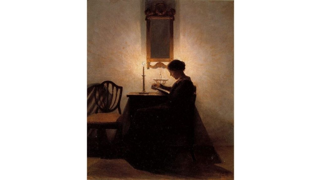 La donna che legge di Peter Ilsted
