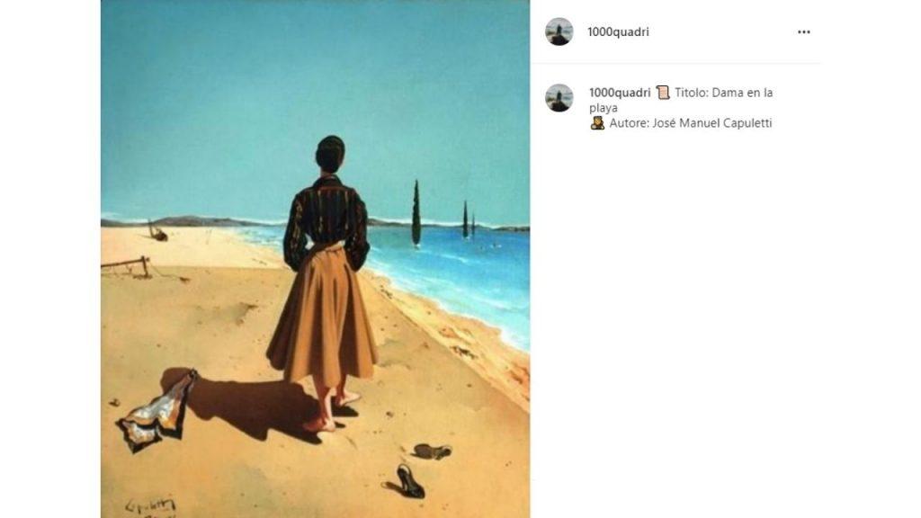 Donna sulla spiaggia di José Manuel Capuletti