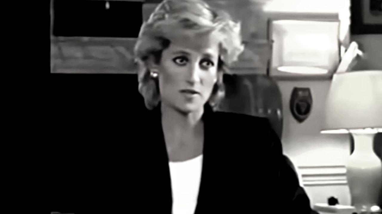 lady diana durante un'intervista