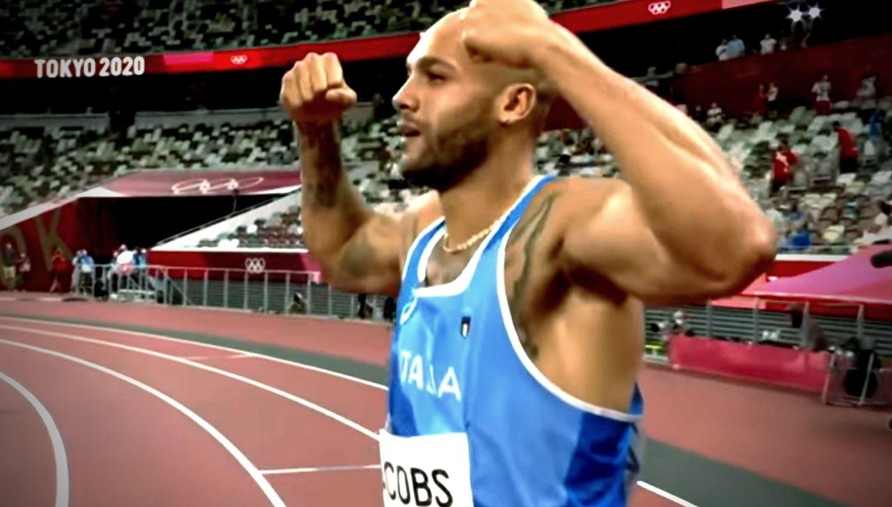 Marcell Jacobs gara 100 metri piani oro