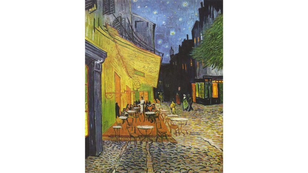 la terrazza del caffè la sera di vangogh