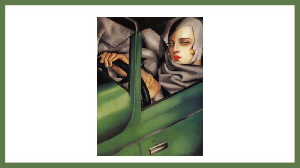 Autoritratto con la Bugatti verde di Tamare de Lempicka