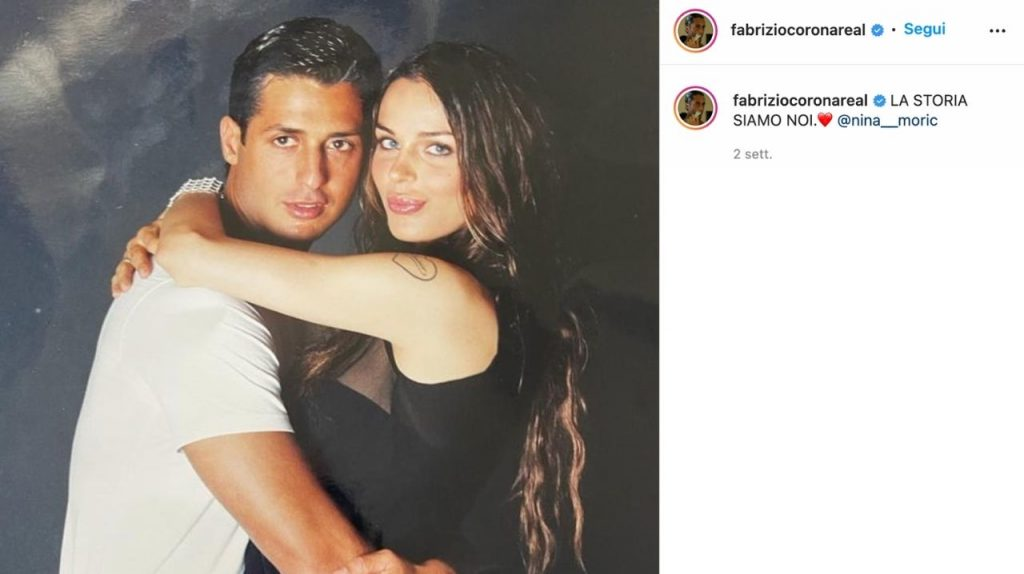 Fabrizio Corona e Nina Moric su instagram
