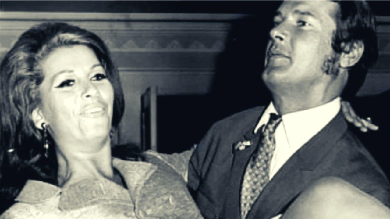 Roger Moore e Luisa Mattioli