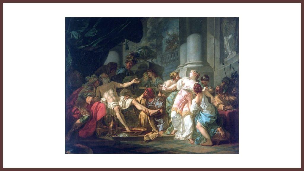Morte di Seneca, quadro di Jaques Louis David