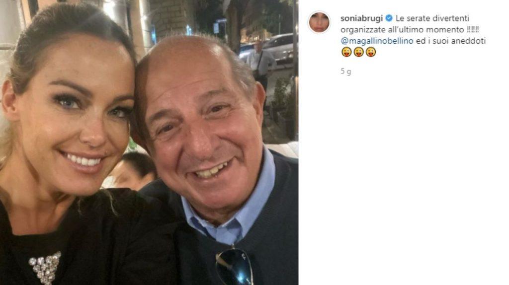Il selfie di Sonia Bruganelli con Giancarlo Magalli